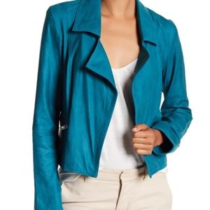 NWT LAMARQUE Blue Ethel Boxy Leather Jacket